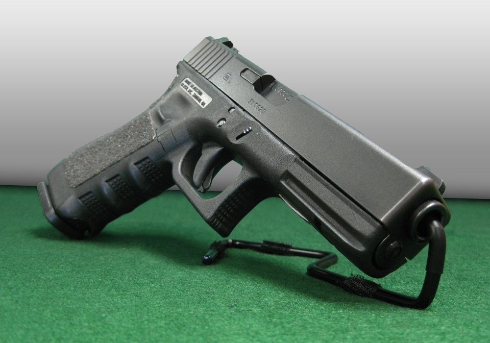 Retail Stands For A Gun Display Case At Gun Shelf